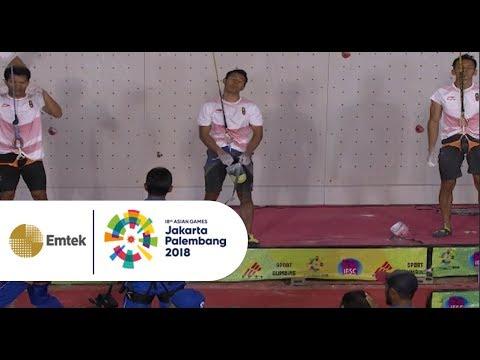 ALL INDONESIAN FINAL!! Tim Sport Climbing Putra Indonesia 2 Kalahkan China 2 dalam Speed Relay Putra