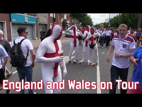 England and Wales fans on Tour  (Jun 16, 2016)
