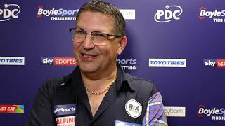 Gary Anderson REACTS to HUGE AVERAGE in win over Willie O'Connor