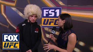 Video Khabib Nurmagomedov Talks with Megan Olivi | INTERVIEW | UFC 219 download MP3, 3GP, MP4, WEBM, AVI, FLV November 2018