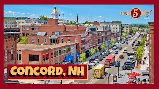 CONCORD, New Hampshire TOUR 4k Drone Video