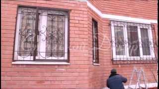 видео Изготовление сварной оконной решетки РС-06 для частного дома