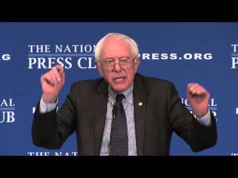 Sanders Speaks at The National Press Club