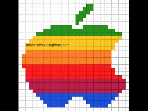 pixel art apple