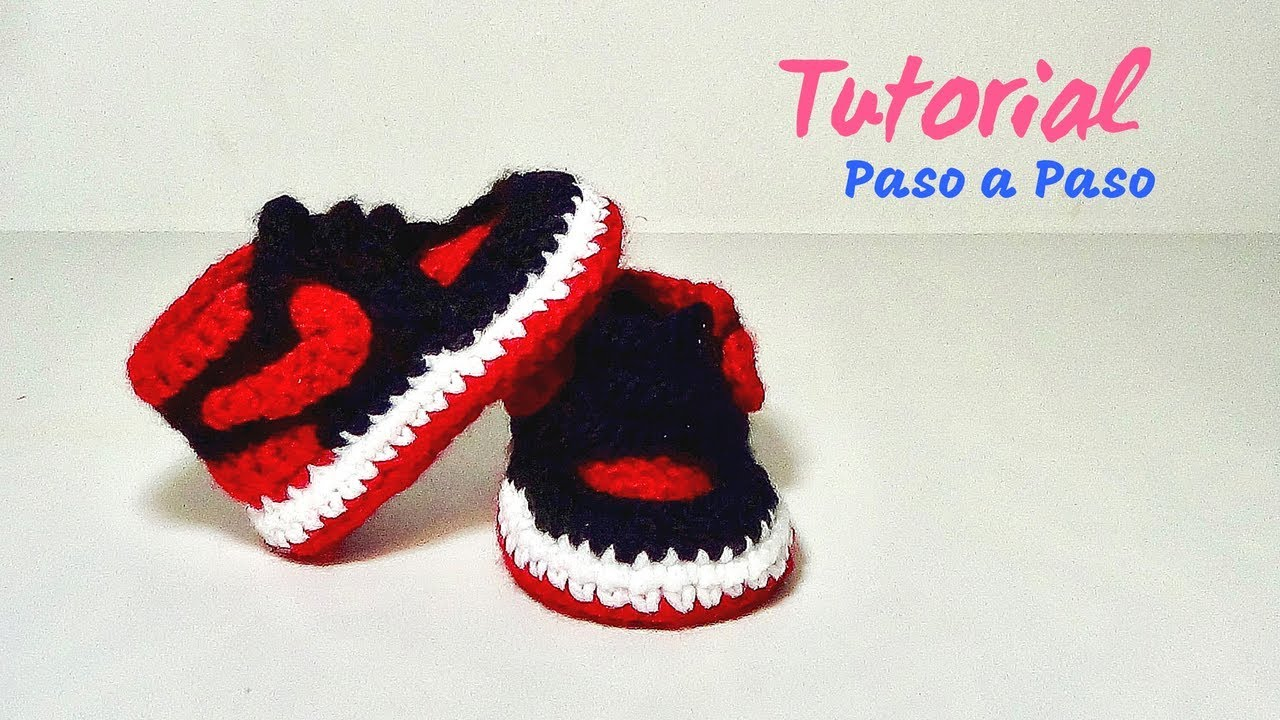 Paso Jordan Tejidos Nike Zapatitos Crochet Bebe A Youtube Para f70Bxwn