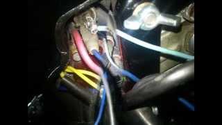 Jawa CZ 350 6V instalacja elektryczna (podłączenie) ( TS ,HD)