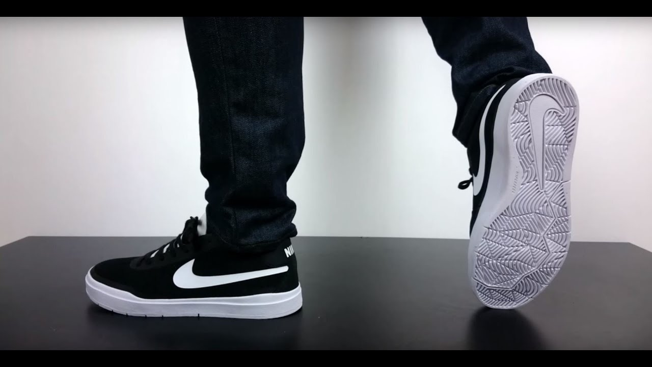 1698c414880c NIKE SB BRUIN HYPERFEEL black white 831756 001 - YouTube