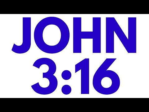 John 3:16 - Bible Verse Video - Christian Video - KJV - God So Loved You