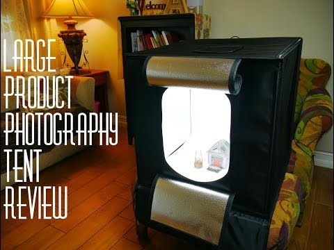 "Esddi Large 24"" Product Photography Light Box Portable Photography Studio"