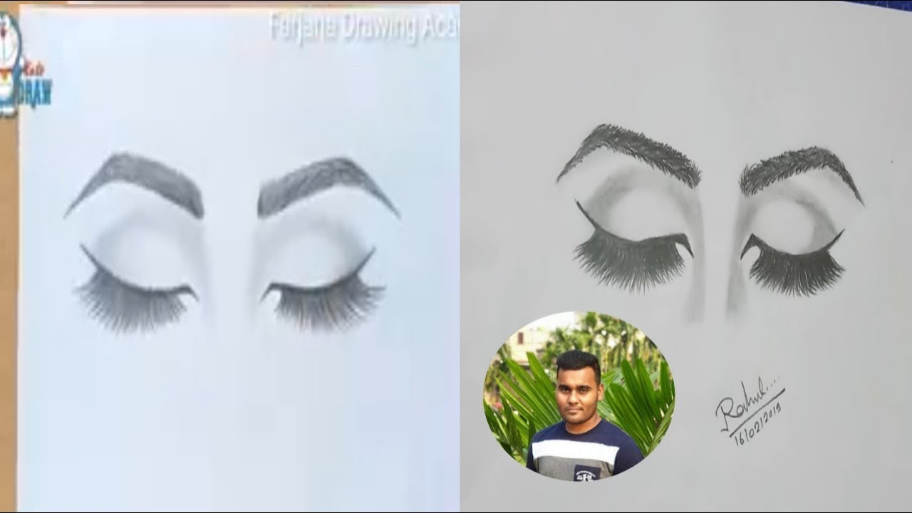 How to draw closed eyes for beginners step by step
