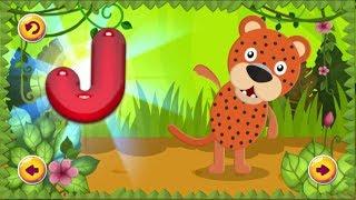 Английский алфавит для детей с весело танцующими животными