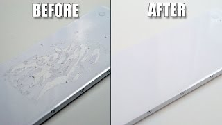 How to remove stickers / sticker residue from MacBook / Laptop