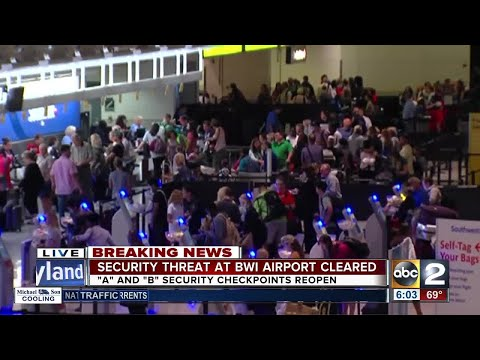 Security threat at BWI airport cleared after finding 'suspicious bag'
