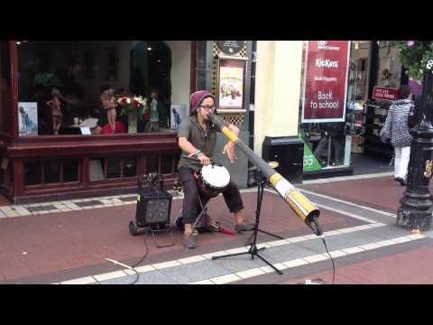 Aboriginal tribal Didgeridoo instrument sound