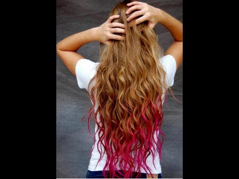 How I Dip Dyed My Hair Pink Youtube