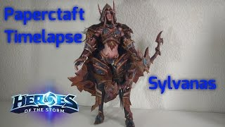 I made a Papercraft Model of Sylvanas (Warcraft/Heroes of the Storm)