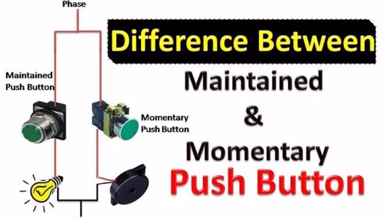 Difference Between Maintained And Momentary Push Button (हिंदी ...