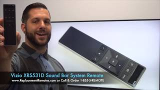 VIZIO XRS531D Sound Bar System Remote - www.ReplacementRemotes.com