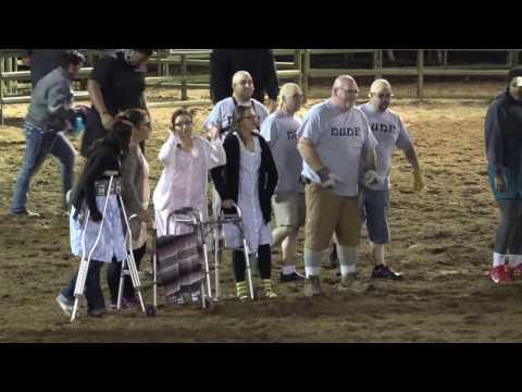 "Team ""Dude"" in 2017 West Hills College Coalinga Rodeo Calf Dressing Contest"