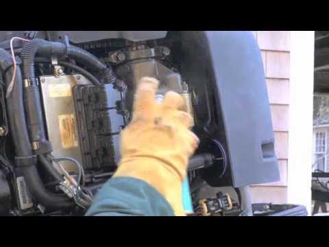 Winterization storage mercury marine 150 hp 4 strok for Yamaha outboard break in procedure