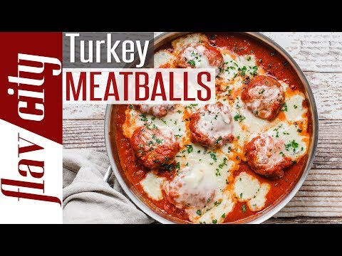 How To Make Cheesy Ground Turkey Meatballs - Keto & Gluten Free