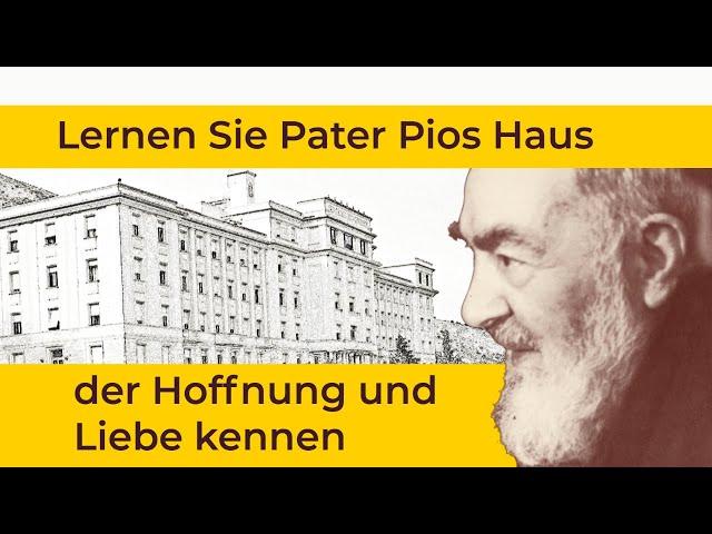 Pater Pio am 5. Mai 1956: Einweihung des Krankenhauses