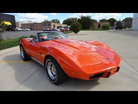 SOLD - 1975 Orange C3 Corvette Z07 for sale by Corvette Mike anaheim ...