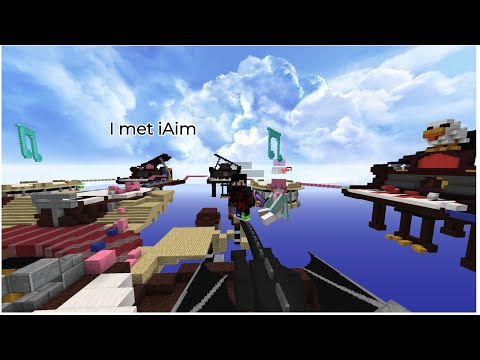 I met iAim in a solo bedwars game !! ft. iAim