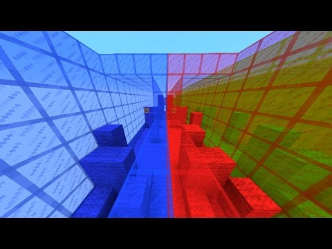 Minecraft RED vs BLUE Parkour - Colour Rush with Vikkstar & Lachlan (Minecraft Parkour)