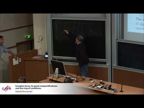 Askold Khovanskii: Complex torus, its good compactifications and the ring of conditions