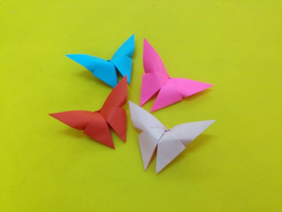 Make a '3 minute origami butterfly' | The Kid Should See This | 720x960