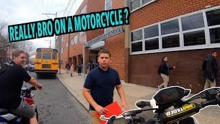 PICKING MY LITTLE BROTHER UP FROM SCHOOL ON MOTORCYCLES