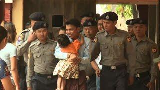 Detained Reuters journalists arrive in Myanmar court