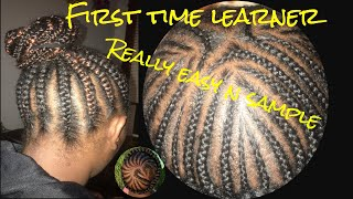How to cornrows braid