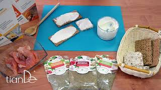Рецепт бутербродов с заправкой на основе белкового микса ванильного Active Life
