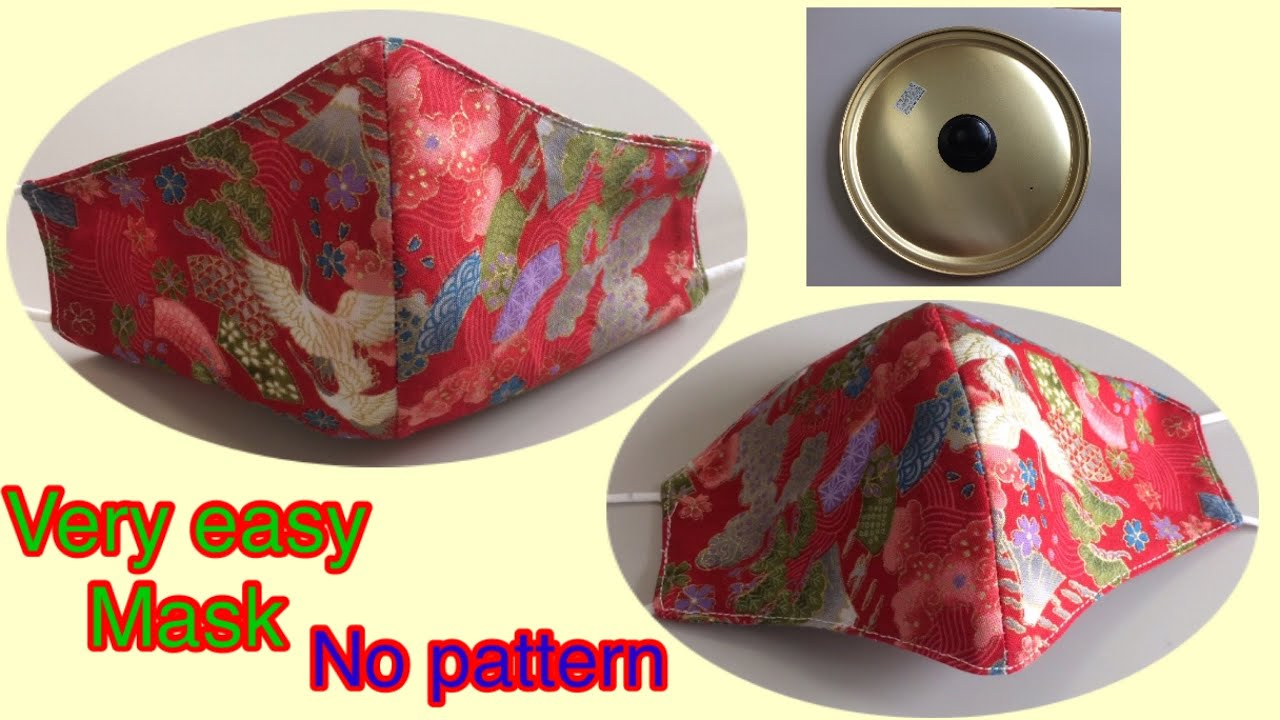 #very Easy mask #No, pattern #How to make a face mask #แมสแบบง่าย#マスクの作り方。