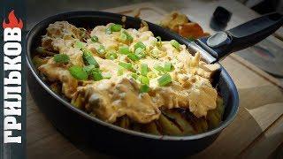 Сытная сковорода #1 (Картошка, лисички, сыр)