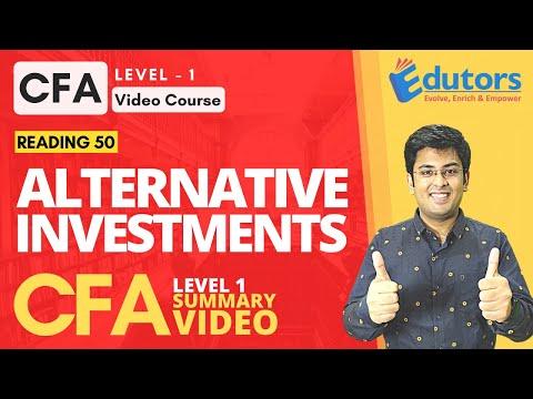 CFA Level 1 - Summary Video (2020) | Alternative Investments (Part 1) | Hindi