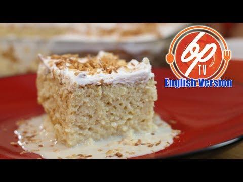 How To Prepare Coconut Tres Leches Cake - Coconut Three Milks Cake