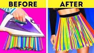 DIY RECYCLING PROJECTS || COLORFUL STRAW, PLASTIC AND CLOTHES HACKS
