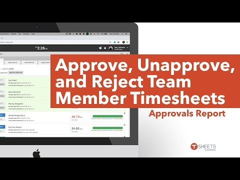How to Approve, Unapprove, and Reject Team Member Timesheets