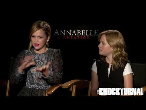 Cast Talks Bringing 'Annabelle: Creation' To Life