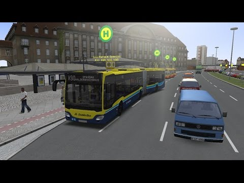 Omsi 2 : Map Berlin 2.1 Route X90 Hamburg C2 Bendy Bus Dublin Livery