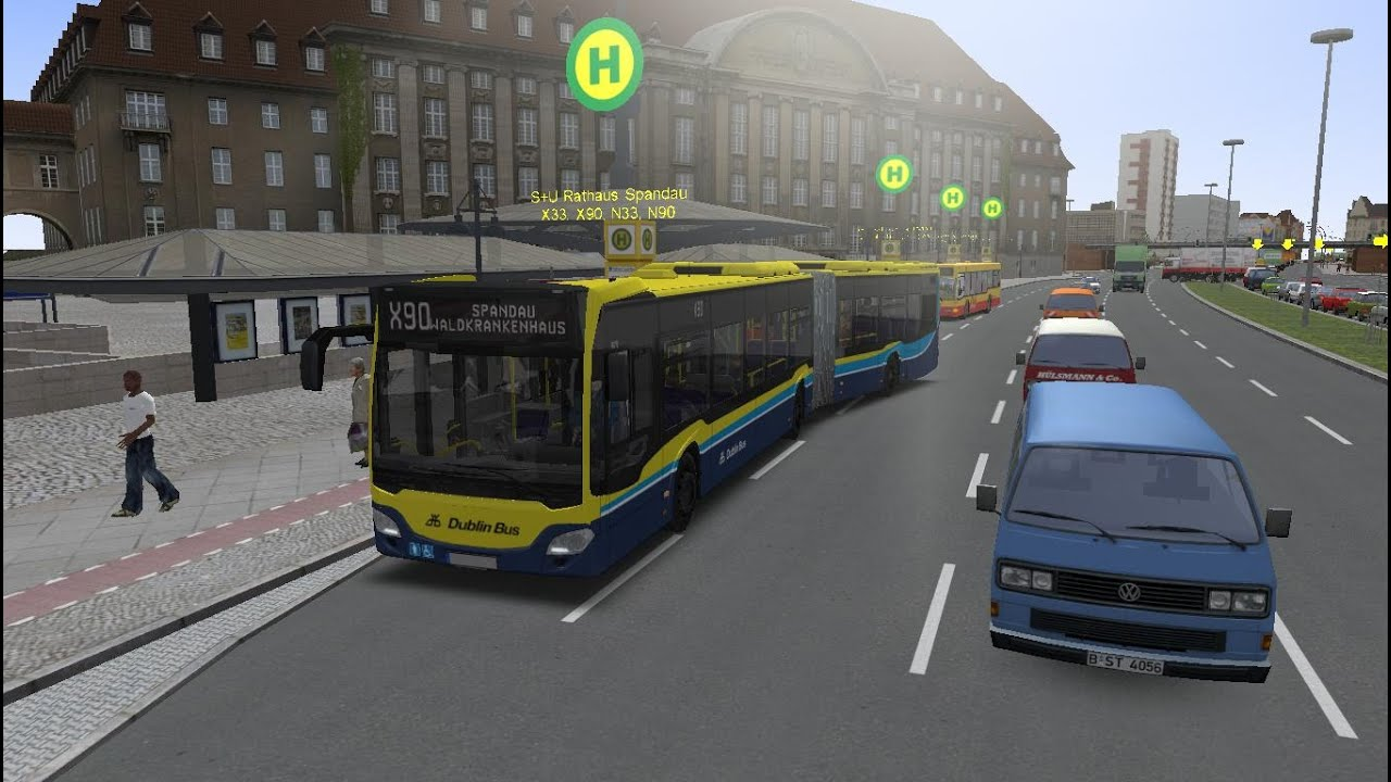 Omsi 2 : Map Berlin 2 1 Route X90 Hamburg C2 Bendy Bus Dublin Livery