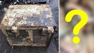 В пункт приёма металлолома сдали старый сейф с сюрпризом. Таких дорогих ящиков ещё не распиливали!