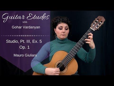 Studios Op.1 Part 3, Example 5 (Grace Notes) By Mauro Giuliani | Guitar Etudes With Gohar Vardanyan