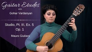 Studios Op.1 Part 3, Example 5 (Grace notes) by Mauro Giuliani | Guitar Etudes with Gohar Vardanyan