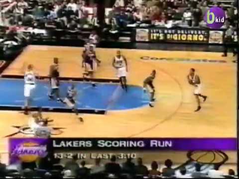 Allen Iverson 31pts vs Kobe Bryant Eddie Jones Van Exel Lakers 97/98 NBA Vintage