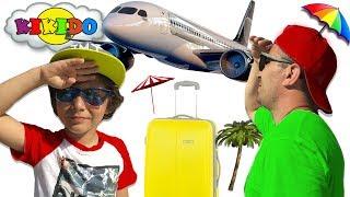 Кикидо улетают в ТЕПЛУЮ СТРАНУ покупки в DUTY FREE  Видео для детей Funny for kids Кикидо