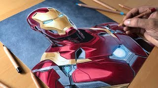 Drawing Iron Man - Timelapse | Artology